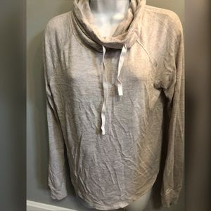 Hollister cowl neck lightweight oatmeal sweater